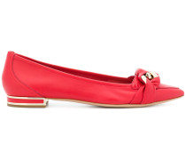 wrapped chain ballerina flats