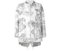 - architecture print bomber jacket - women