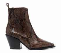 Kate snakeskin-effect ankle boots