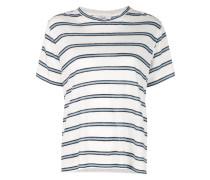 Gestreiftes T-Shirt mit Schlitz
