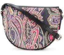 paisley print saddle bag