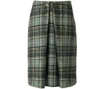 pleated tartan skirt