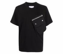 T-Shirt mit Klappentasche