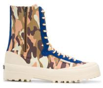 x Paura Stiefel mit Camouflage-Print