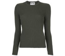 Gerippter Pullover mit Tülleinsatz