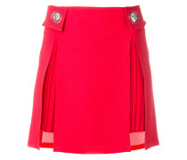 pleated trim studded skirt