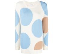 Intarsien-Pullover mit Polka Dots
