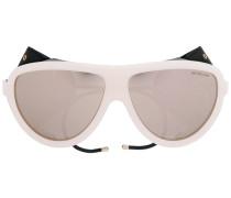 'Noir' Sonnenbrille - women - Leder/Acetat