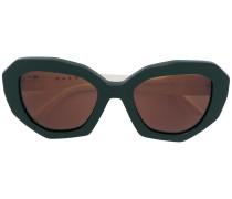 cat eye geometric sunglasses