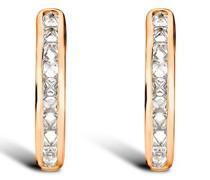 18kt Rotgoldcreolen mit Diamanten