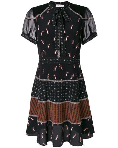 georgette tie neck dress