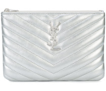 Monogram quilted pouch