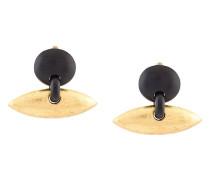 Ohrclips mit ovalem Anhänger