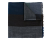 checked frayed hem scarf