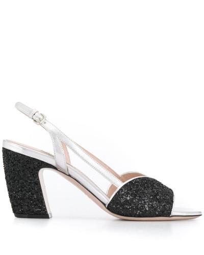 Sandalen mit Glitter-Details