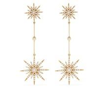 18kt yellow  diamond Sun 2 drop earrings