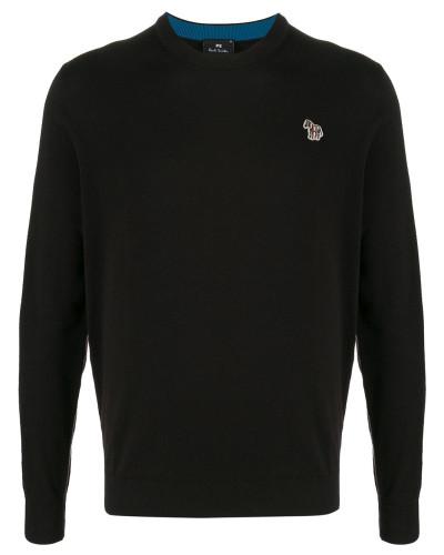 Pullover mit aufgesticktem Zebra