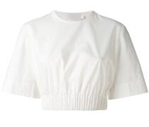 Cropped-T-Shirt mit elastischem Bund