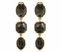 Cabochons clip drop earrings