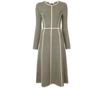 geometric pattern knit dress