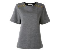 T-Shirt mit Ösenverzierungen