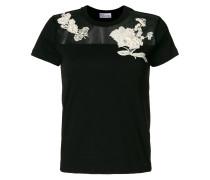 T-Shirt mit Blütenstickerei