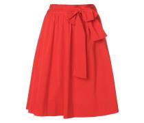 high-waist bow tie skirt