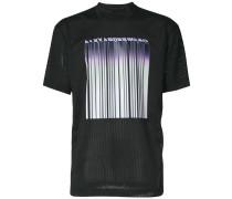Netz-T-Shirt mit Barcode-Print