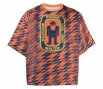T-Shirt mit gespiegeltem Logo