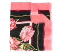 Schal mit Tulpen-Print