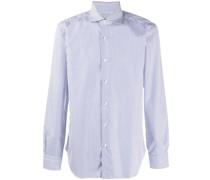 striped spread-collar shirt