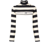 Gestreifter Cropped-Pullover
