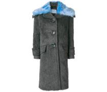 Mantel mit Kontrastkragen
