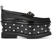 Verzierte Flatform-Loafer