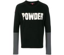 Powder colour block jumper