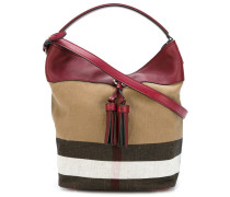 check detail shoulder bag