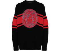 Intarsien-Pullover mit Medusa