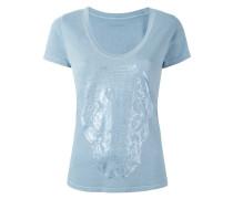 T-Shirt mit Totenkopf-Print - women