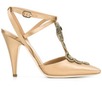 Pumps mit Schlangen-Ornament