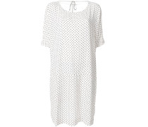 Ausgestelltes Kleid mit Punktemuster