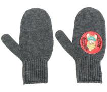 teddy plaque mittens