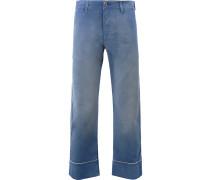 Cropped-Jeans mit geradem Bein - men