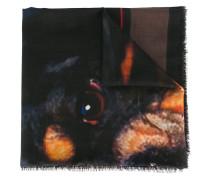 Wollschal mit Rottweiler-Print und ungesäumten