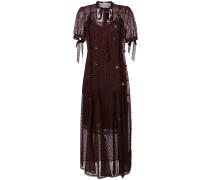 star embroidered mesh overlay dress