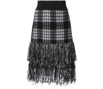 fringed tartan skirt