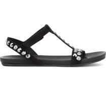 Nietenbesetzte 'Jeril' Sandalen mit T-Riemen