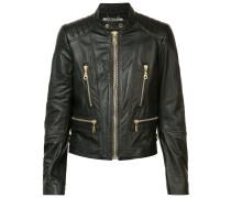 - biker jacket - women - Leder/Viskose/Bos Taurus