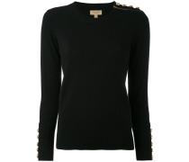 - cashmere buttoned detail jumper - women