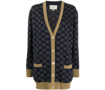 Lamé-Cardigan mit GG-Muster