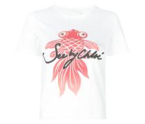 T-Shirt mit Fisch-Print